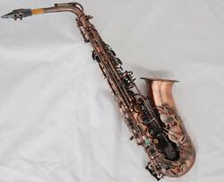Professional Red Antique 54 Reference Alto Saxophone Eb High F Sax Abalone Keys