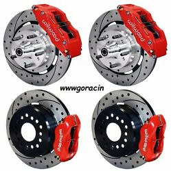 Wilwood Disc Brake Kit65-72 Cdp C-body12 Drilled Rotors6 Piston Red Calipers