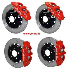 Wilwood Disc Brake Kit05-13 Dodge Charger300300c14.25 Rotorsred Calipers And039