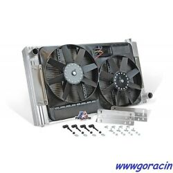 Universal Fit Flex-fit Aluminum Radiator And Electric Fans With Shroud33 5/8 W