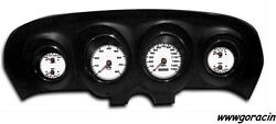 New Vintage Usa1969-70 Ford Mustang Direct Fit White Gaugepackagemachigt350