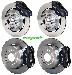 Wilwood Disc Brake Kit1965-1968 Chevrolet Impala11 Rotorsblack Calipers
