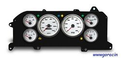 New Vintage Usa,performance White Gauge Set Fits 1987-93 Ford Mustang,gt,lx,5.0
