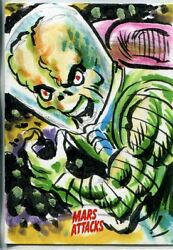 Mars Attacks Invasion Sketch Card By Jeff Zapata