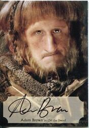 The Hobbit Desolation Of Smaug Poster Autograph Card Adam Brown As Ori The Dwarf