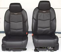 2016 2015 CADILLAC ESCALADE FRONT BUCKET SEATS FULL POWER IN BLACK LEATHER