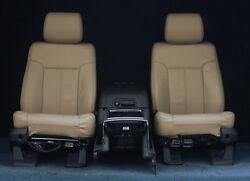 2014 2013 2012 F250 F350 Tan Leather Seats & Console With Heat & Cooling Options