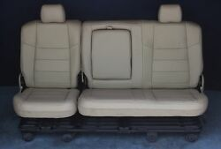 2007 2006 2005 2004 F250 F350 Crew Cab Newly Recovered Rear Gray Leather Bench