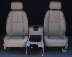 Gray Leather Buckets With Center Console