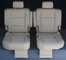 2010 2009 2008 2007 2006 Infinity Qx56 2nd Row Captains Chairs Tan Leather