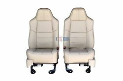 2010 2009 2008 Ford F250 F350 Front Seats In Camel Tan Leather.