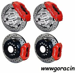 Wilwood Disc Brake Kit1964-1972 Chevelle12 Drilled Rotors 6/4 Pistonred And039
