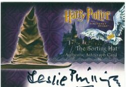 Harry Potter Sorcerers Stone Autograph Leslie Phillips As The Sorting Hat