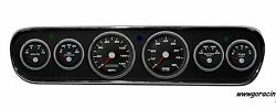 New Vintage Usa Gauge Panel Kit Direct Fit For 1964 - 1966 Ford Mustang
