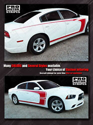Dodge Charger 2011-2014 Side Scallop Wide C-stripes Decals Choose Color