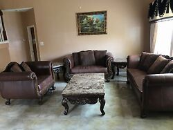 Living Room Furniture Set Including 3 Sofas. 2 Small And 1 Center Tables Sold.