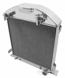 1928-1929 Ford Model A Radiator For Chevy Motor Aluminum 3 Row Champion