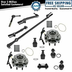 11 Piece Steering And Suspension Kit Wheel Hub Bearing Ball Joint Tie Rod End New