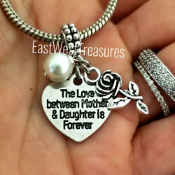 Mother Daughter Charm Bracelet Necklace Jewelry Gift For Mom Mother In Law