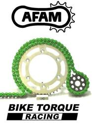 Ducati 1100 S Hypermotard 07-09 Afam Upgrade Green Chain And Sprocket Kit