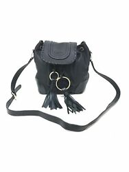 See by Chloé 9S7883-P284 Small Polly Bucket  Black Leather Women's Bag