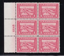Us 402 2c Pan-pacific Mint Perf 10 Plate Block Of 6 Choice Vf-xf Og Lh Scv1950
