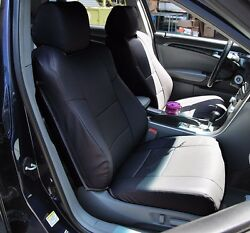 ACURA TL 2004 2008 BLACK S.LEATHER CUSTOM MADE FIT FRONT SEAT COVER $149.00