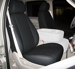 CHEVY SILVERADO 2014 2019 BLACK IGGEE S.LEATHER CUSTOM FRONT SEAT COVER $149.00