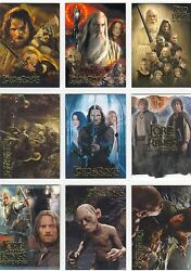 Lord Of The Rings Ttt Hobby Japan Complete Exclusive Chase Card Set 1-9