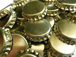 Pick 1-144 Gold Crown Caps Standard 26.5 Size Soda Mead Beer Bottles Lined New