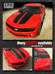 Chevrolet Camaro 2010-2015 Rally Racing Stripes Hood And Trunk Decals Choose Color