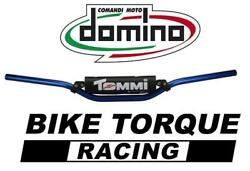 Beta Domino 22mm Mount Alloy Bar - Low Bend Blue Handlebars With Bar Pad