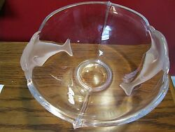 Lenox Crystal Frosted Dolphins Bowl[lenx]