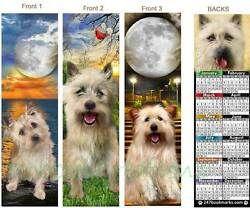 CAIRN TERRIER 2018 CALENDAR BOOKMARK-3 Set DOG MIX Gift Card Ornament Figurine