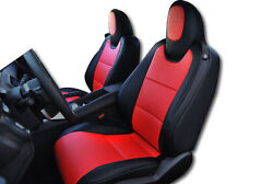 CHEVY CAMARO 2010 2015 BLACK RED IGGEE S.LEATHER CUSTOM FIT FRONT SEAT COVER $180.00