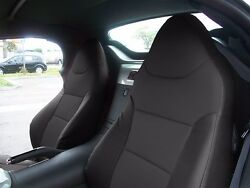 PONTIAC SOLSTICE 2006 2009 BLACK S.LEATHER CUSTOM MADE FIT FRONT SEAT COVER $149.00