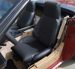 CHEVY CORVETTE C4 TYPE3 1984 1993 BLACK S.LEATHER CUSTOM FIT SEAT COVER $149.00