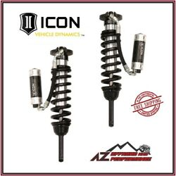 Icon 2.5 Standard Travel Rr Cdcv Front Coilover Shock Kit For 05-21 Tacoma