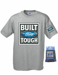 Ford Build Tough Tee with Cooler Koozie Can Set Gray