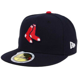 New Era 5950 Youth Boston Red Sox ALT Fitted Hat (Navy Blue) MLB Kid's Cap