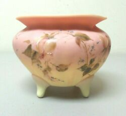 Rare Webb Burmese Enameled Footed Bowl Unusual Size And Decoration C. 1880and039s
