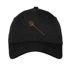 Soft Women Baseball Cap Trident Embroidery Dad Hats for Men Buckle Closure $16.99