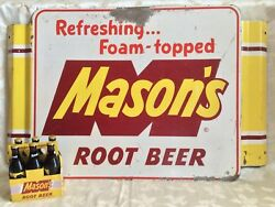 Vintage Mason's Root Beer Sign