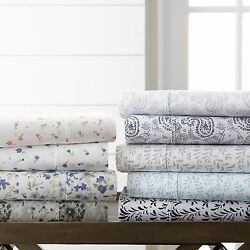 Home Collection Premium 4 Piece Printed Bed Sheet Set 11 Beautiful Designs