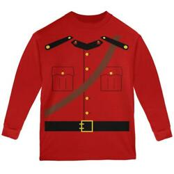 Halloween Canadian Mountie Police Costume Youth Long Sleeve T Shirt $20.95