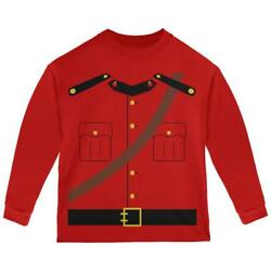 Halloween Canadian Mountie Police Costume Toddler Long Sleeve T Shirt $18.95