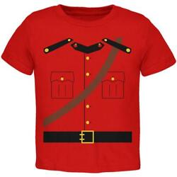 Halloween Canadian Mountie Police Costume Toddler T Shirt $16.95