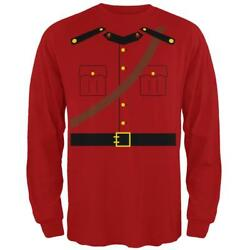 Halloween Canadian Mountie Police Costume Mens Long Sleeve T Shirt $20.95