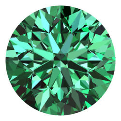 3.2 Mm Certified Round Fancy Green Color Si Loose Natural Diamond Wholesale Lot