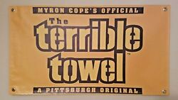 New Pittsburgh Steelers Terrible Towel Vinyl Flag Picture Banner 20×36 Nfl Usa